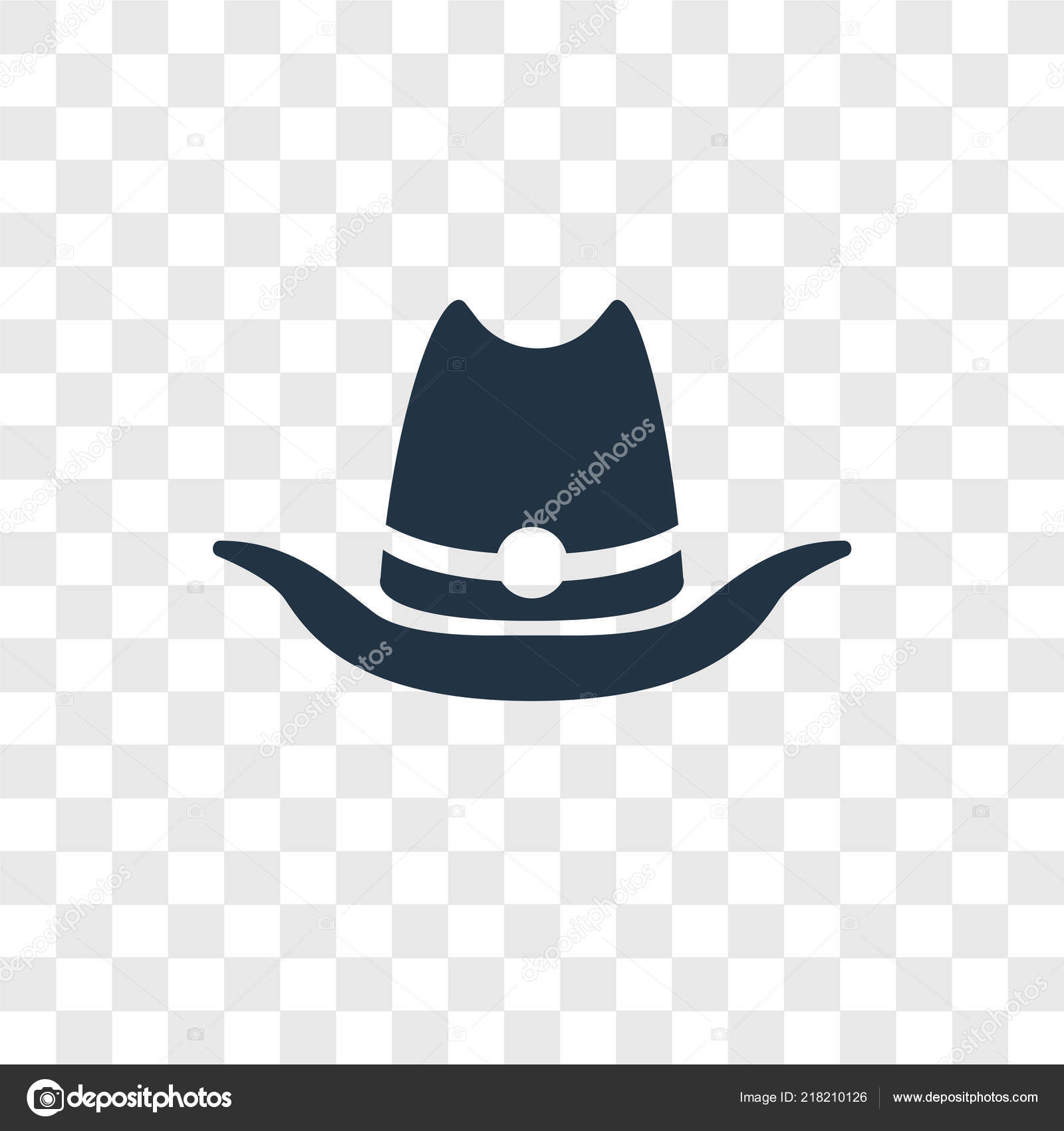 Cowboy hat icon trendy design style isolated stock jpg