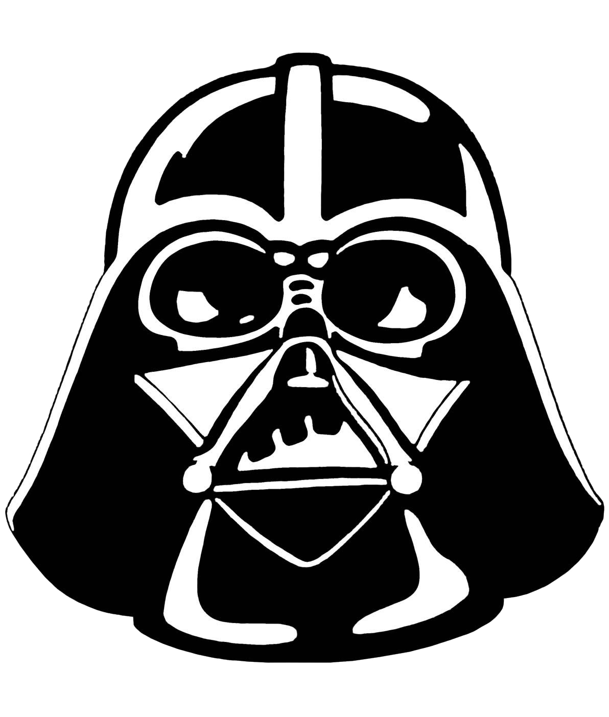 Darth vader stencil star wars clipart png