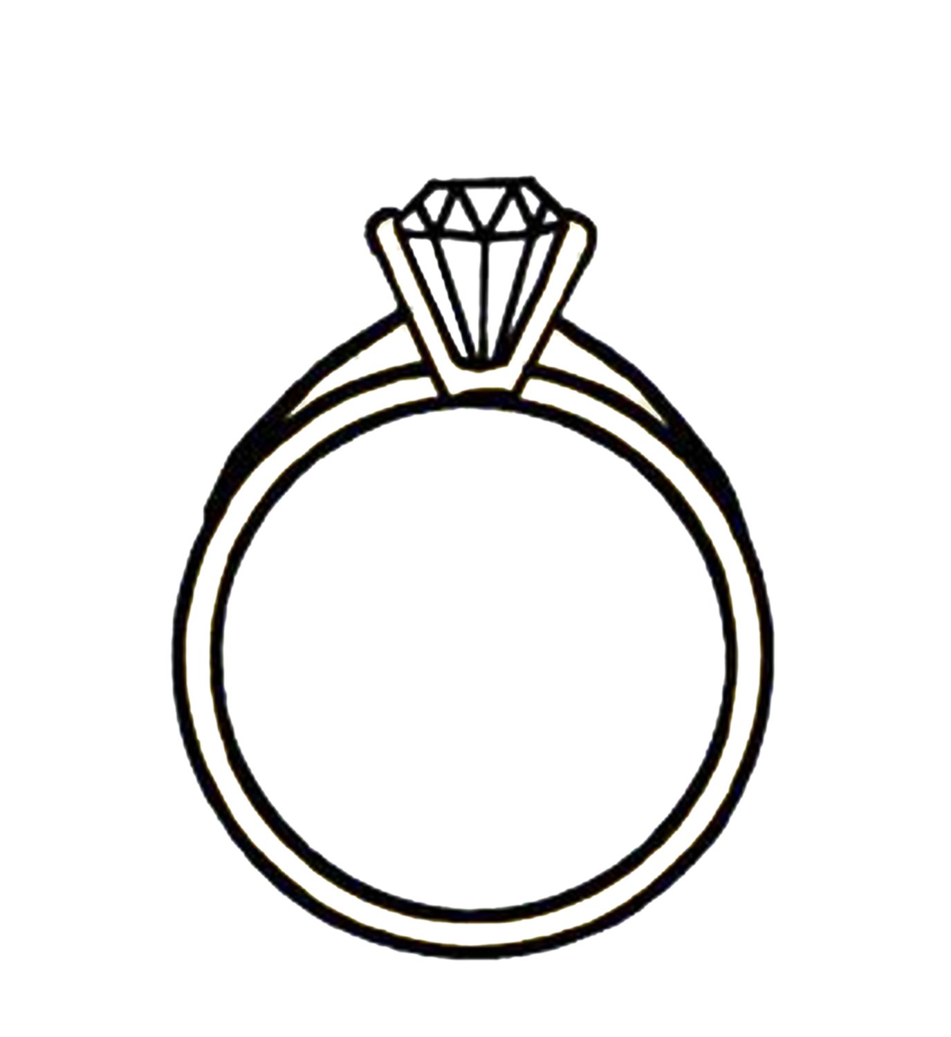 Diamond ring clipart free images jpeg