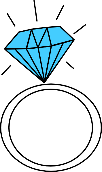 Diamond ring teal clip art at vector clip art png