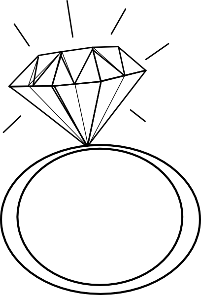 Big diamond ring clipart jpg