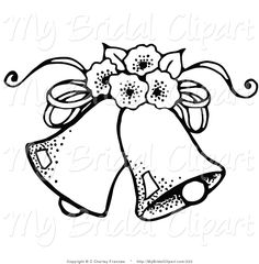 wedding bells Wedding clipart pictures great free clipart silhouette coloring jpeg