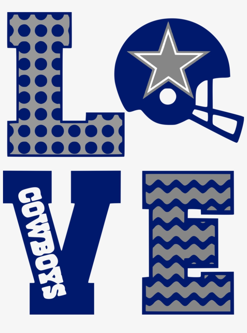 Dallas cowboys clipart blue love svg transparent png