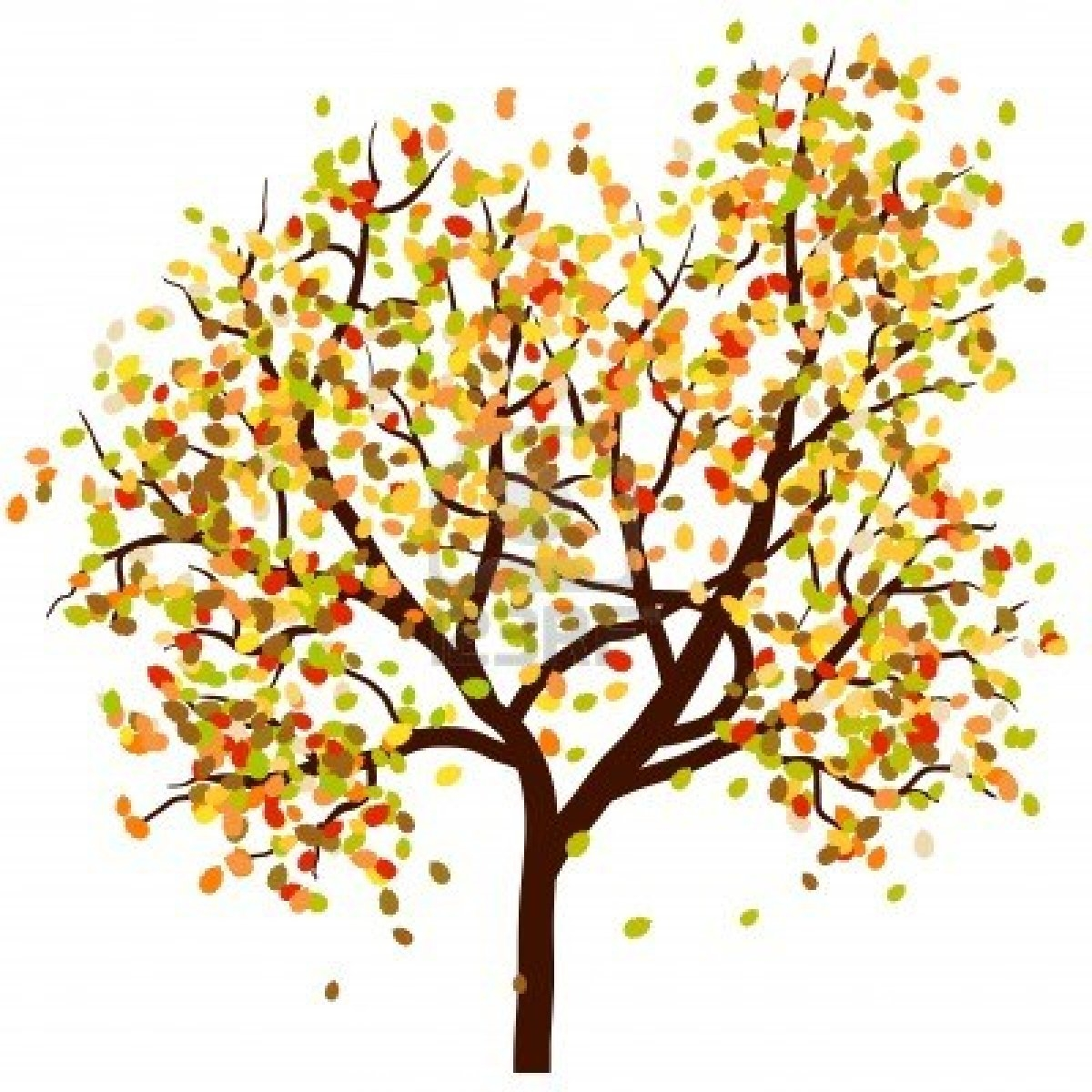 Fall tree with leaves clipart collection jpg