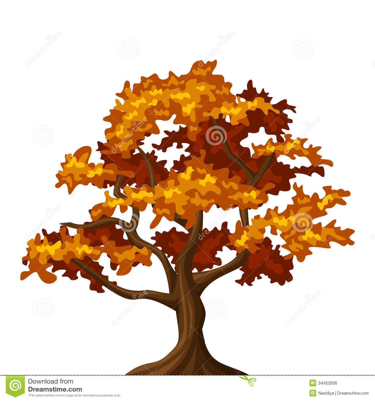 fall tree Fall oak tree clipart jpg