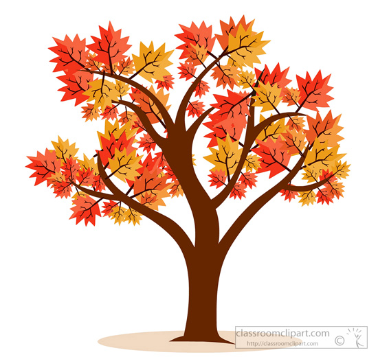 fall tree Seasonal clipart maple tree fall foliage jpg
