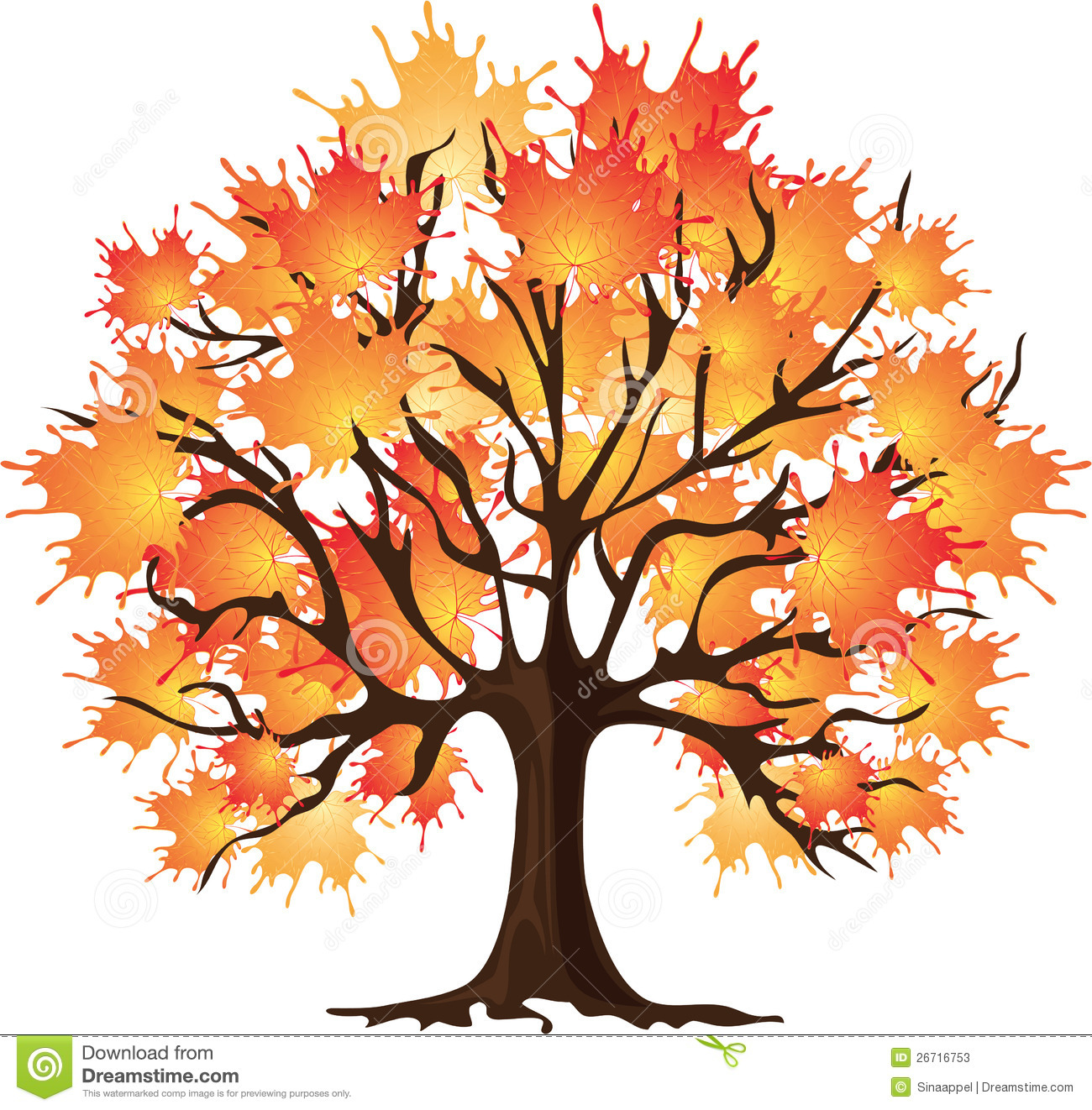 fall tree Maple tree cartoon clipart jpg