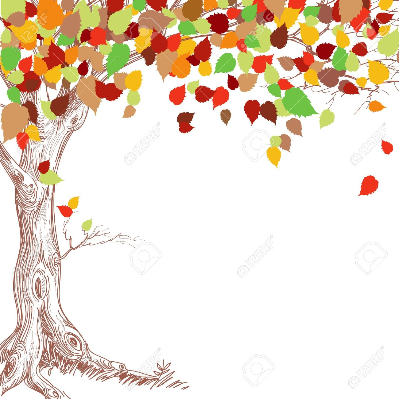 Fall trees clipart group with items jpg