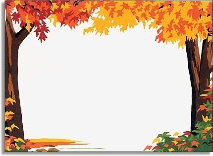 Fall border fall tree clipart clipground jpg