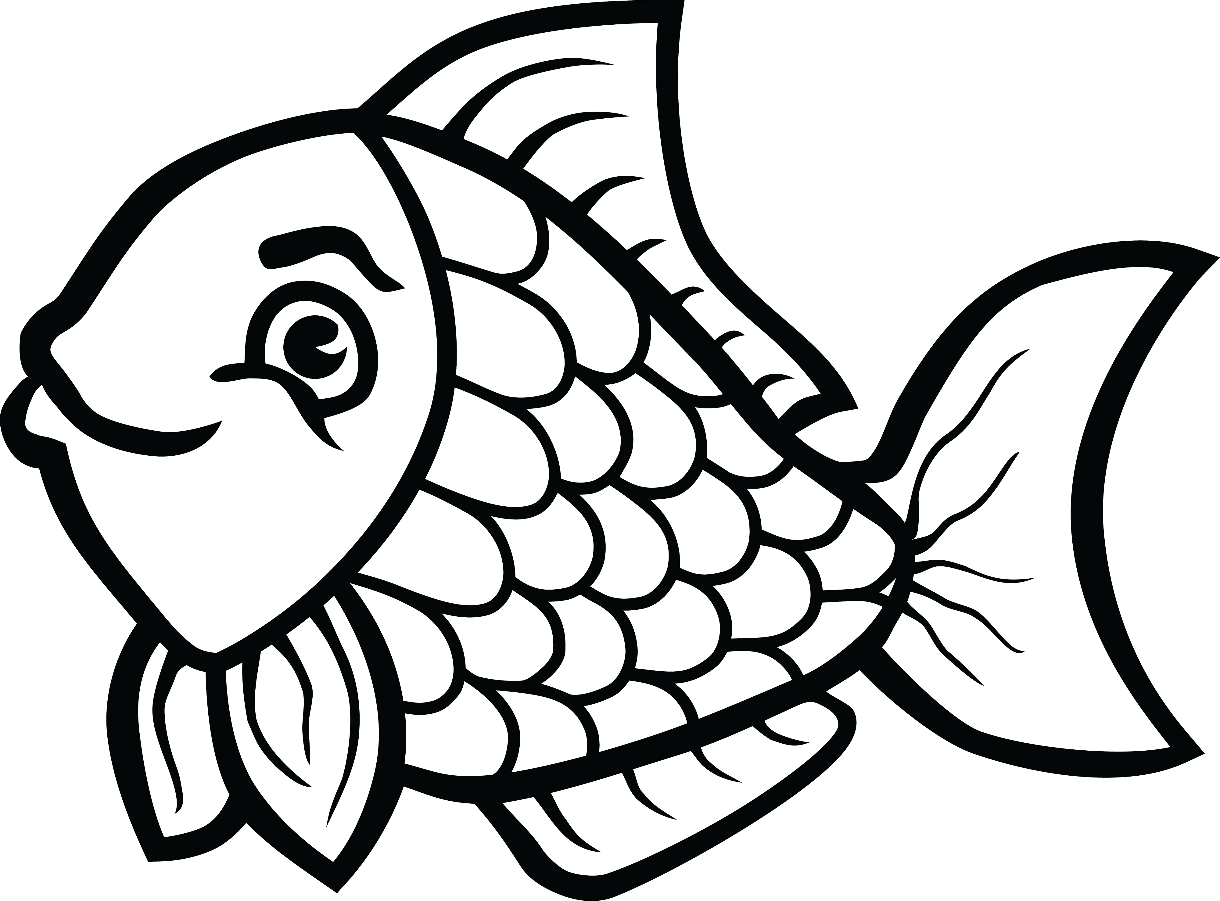Clip art transparent download of fish in black and white rr png