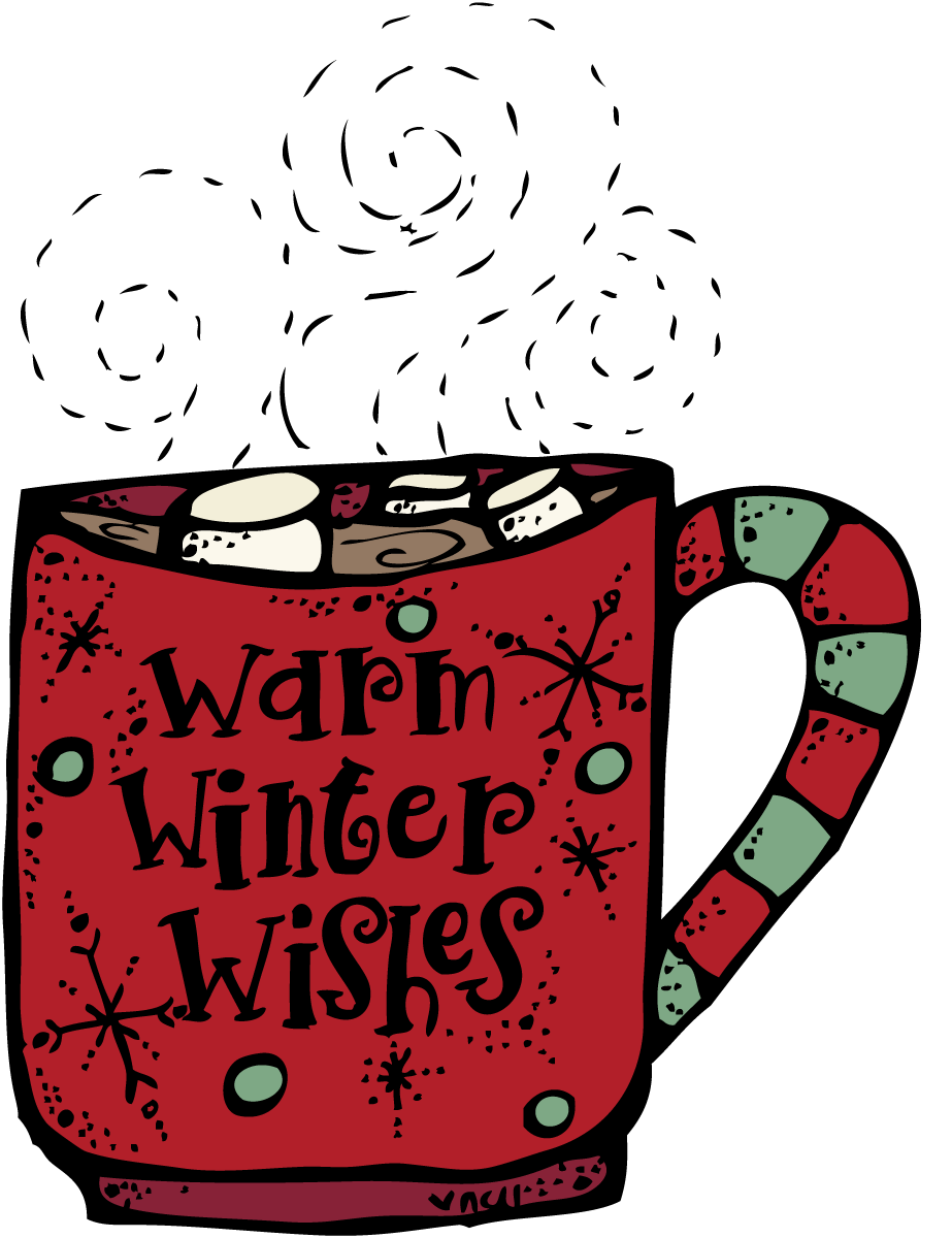 Winter hot chocolate clipart jpg
