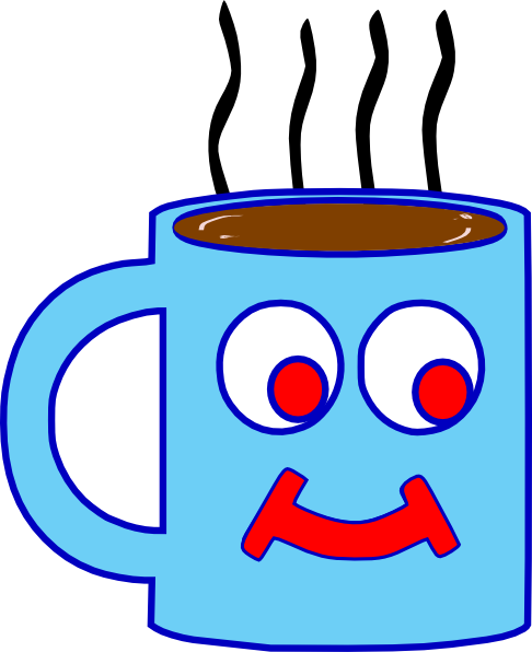Blue hot chocolate cup clip art at vector clip art png