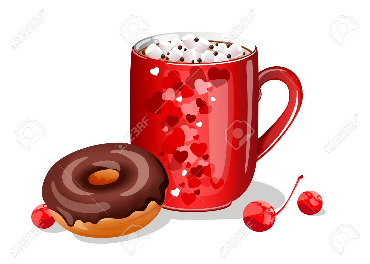 Hot chocolate clipart donut 6 free clip art stock jpg