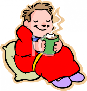 Child drinking hot chocolate free clip art image jpg