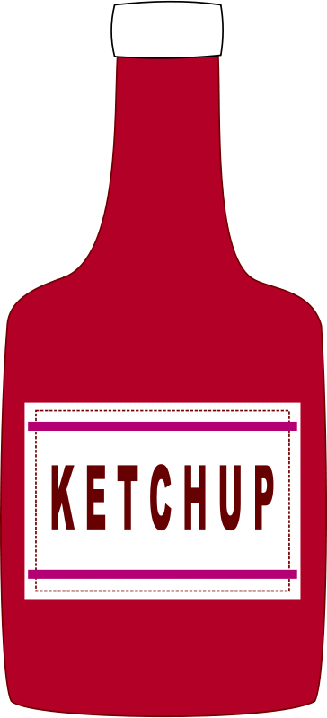 Free clipart ketchup bottle alves png