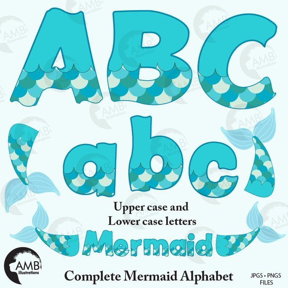 mermaid tail Mermaid alphabet letters scales tail jpg