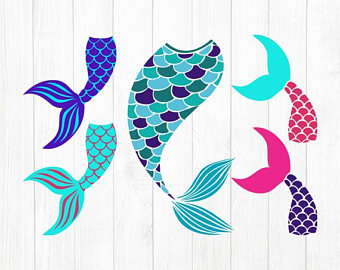 Mermaid tail template printable jpg
