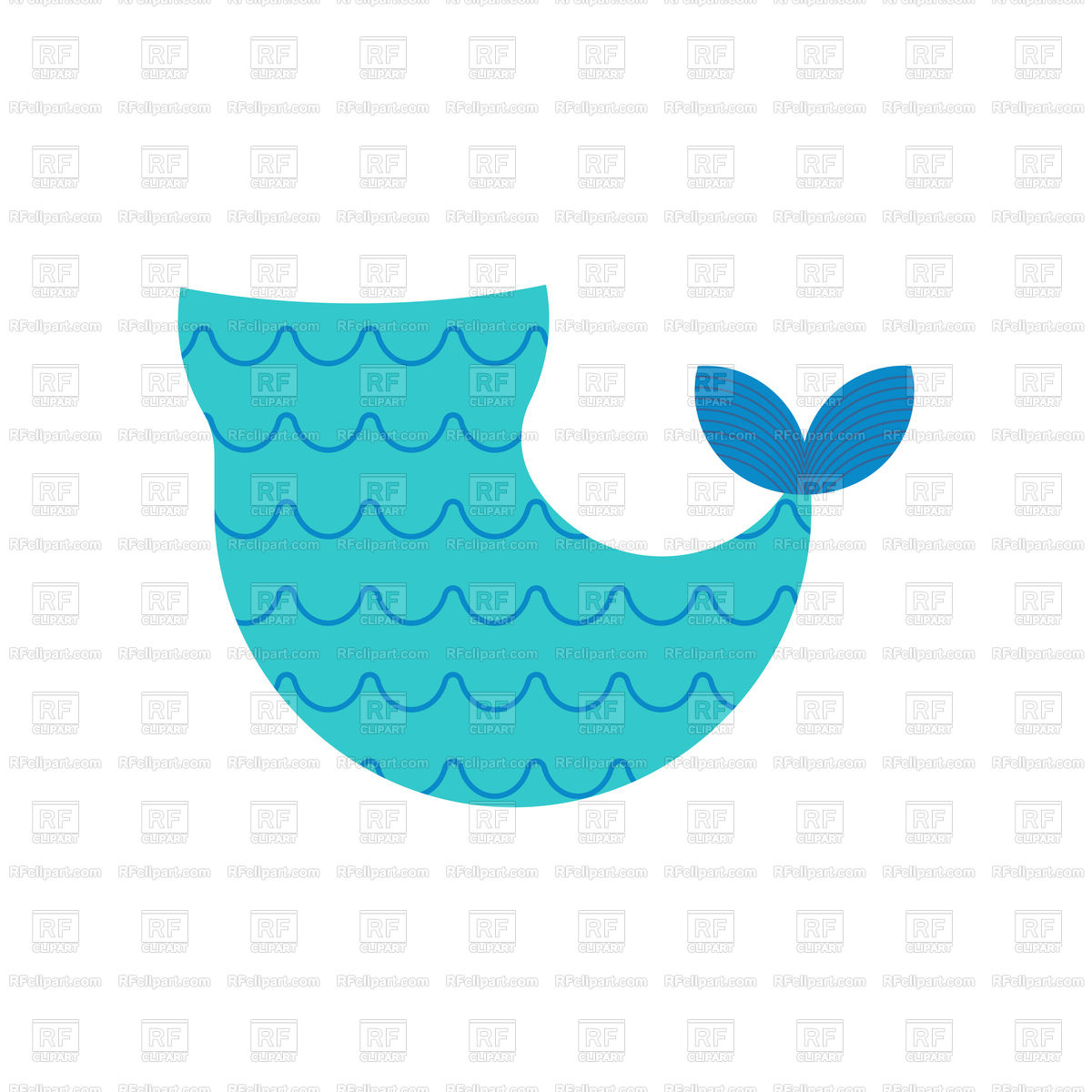 Mermaid tail isolated template vector image of icons and emblems jpg