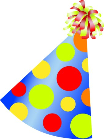 Birthday party hat clipart jpg