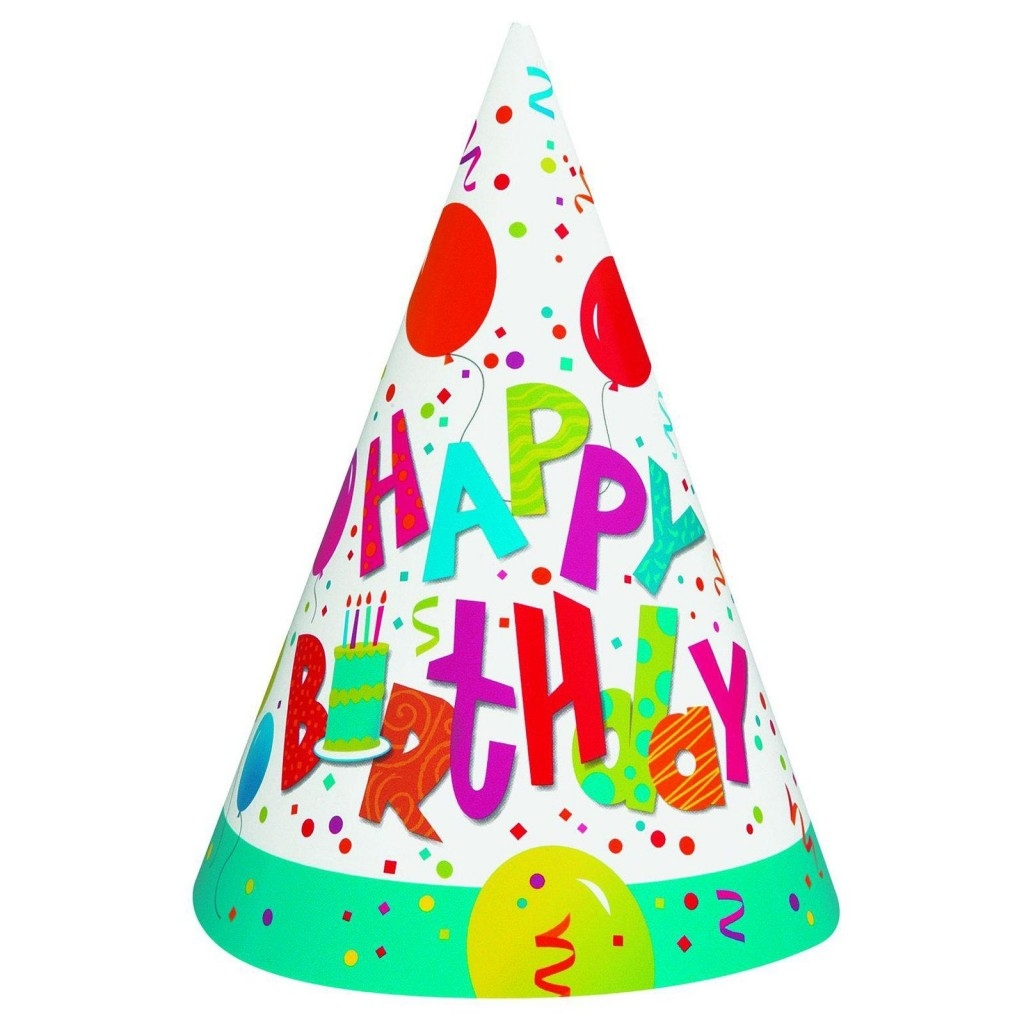 Party hat clipart 7 birthday hats jpg