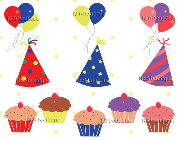 Birthday hat birthday clipart clip art party hats balloons jpg