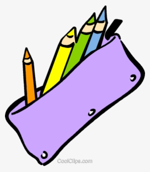 Pencil case free vector clip art illustration png