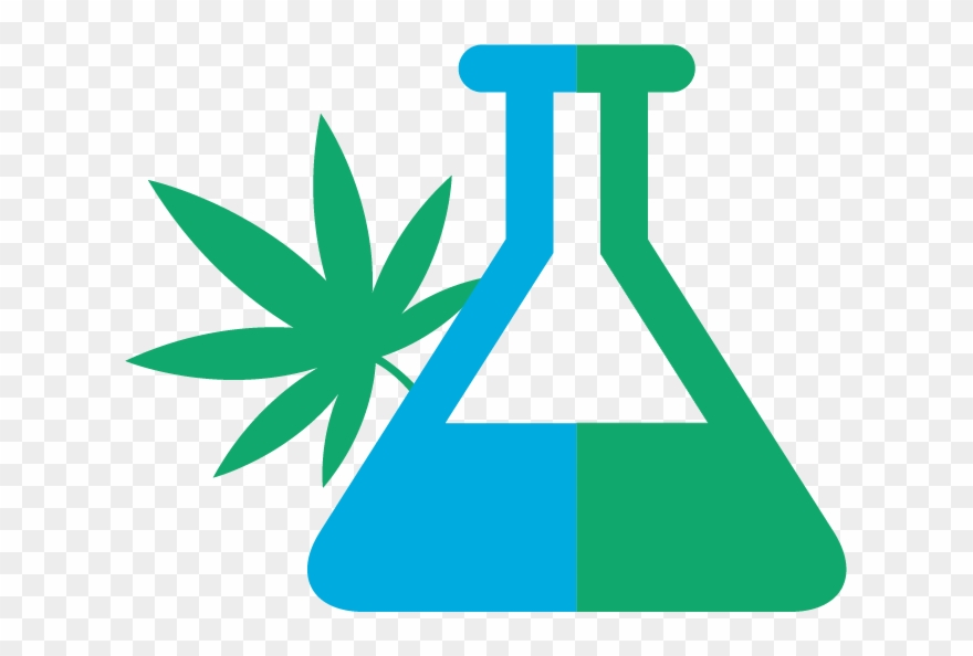 Medical marijuana science beaker transparent clipart black png