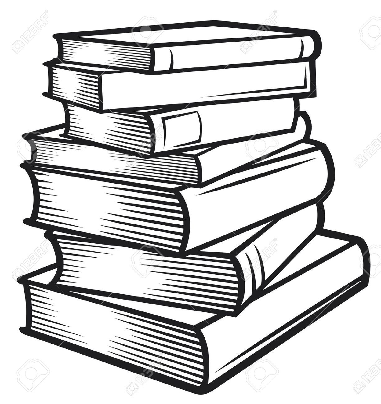 Tall stack of books clipart black and white fonts and templates jpg