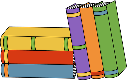 Books stacked upright clipart jpg