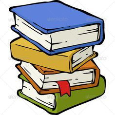 stack Unique book pile clipart jpg
