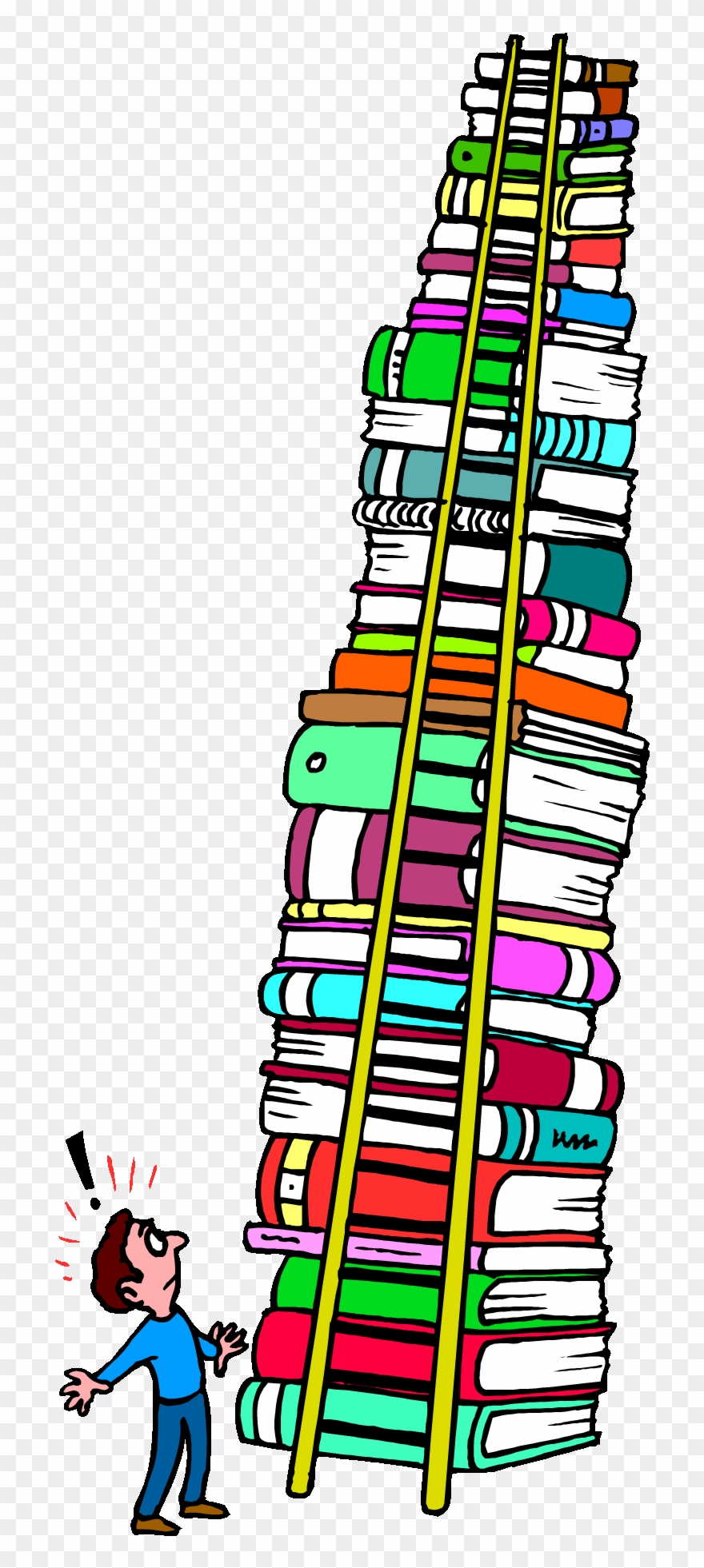 Tall stack of books clipart download 9 pinclipart png
