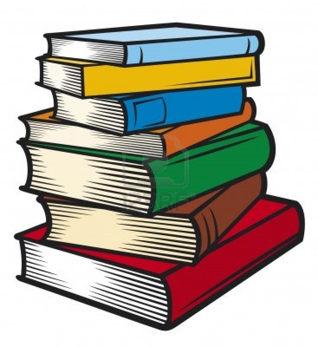 stack Pile of books clipart jpg