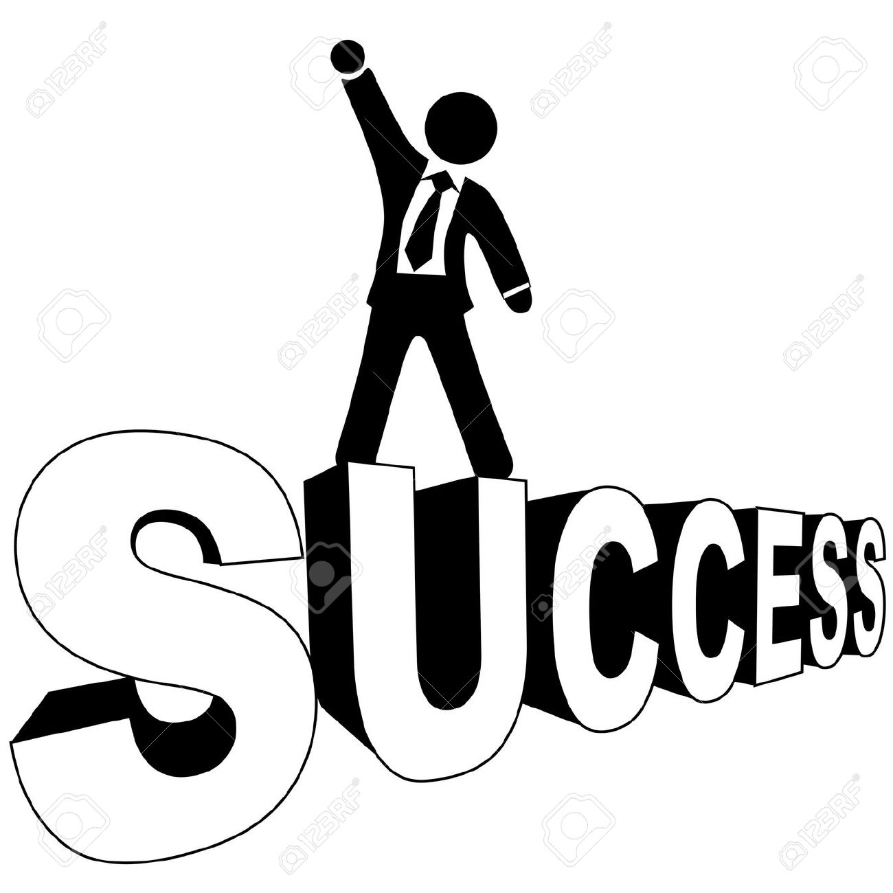 Successful man clipart jpg