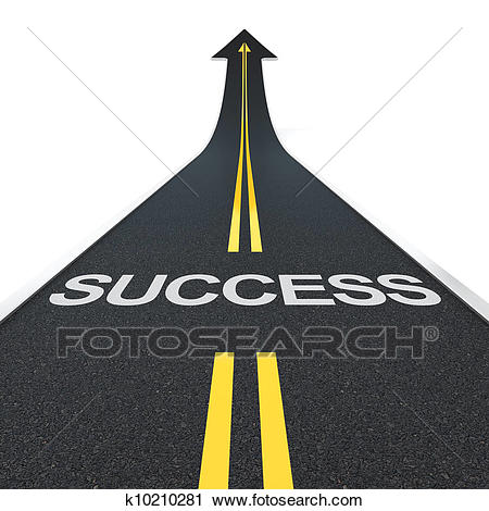Clipart of success road search clip art illustration jpg