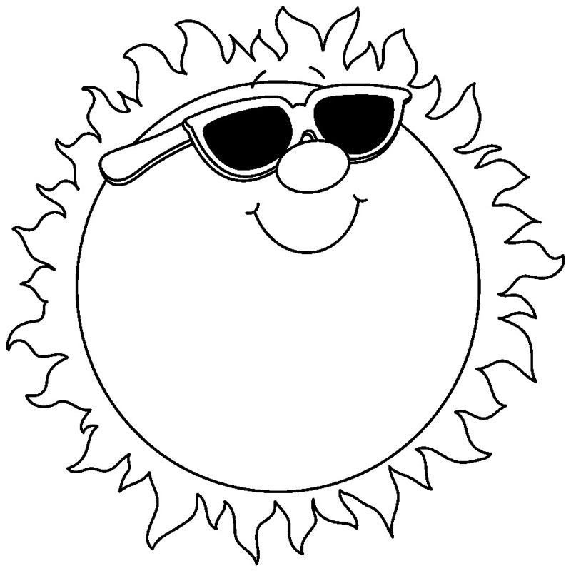 Cute sun clipart black and white collection jpg