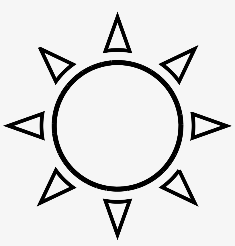 Sun clipart outline drawing black and white image png
