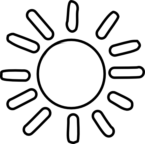 Black and white sun clipart free library rr collections png