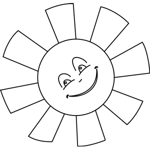 Cute free black and white sun clipart collection png