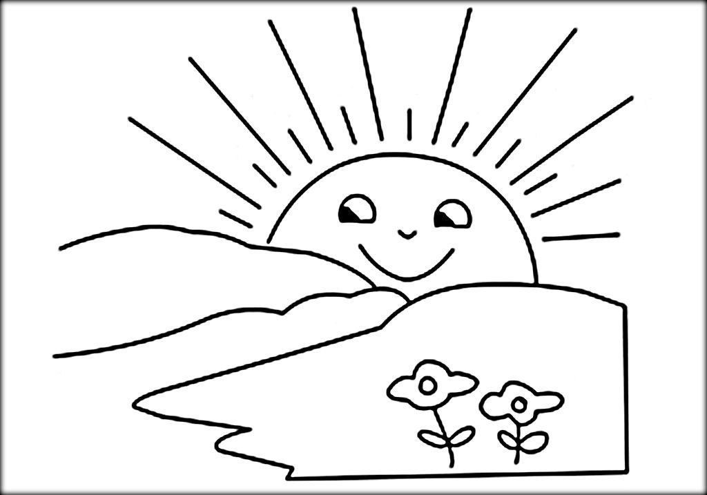 Sunshine clipart black and white jpg