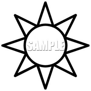 Black and white clipart sun clipground jpg