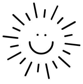 Happy sun clipart black and white free images png