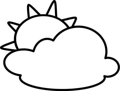 sun Cloud clip art black and white arts for free download on jpg