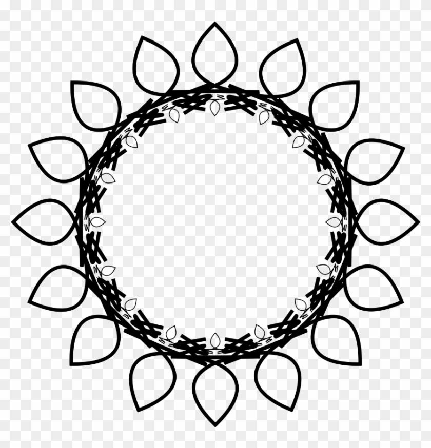 Sun clipart outline black and white flower free png