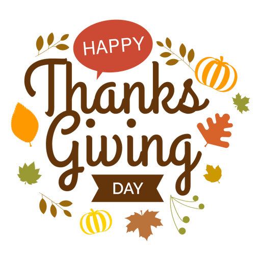 Thanksgiving day logo transparent  png